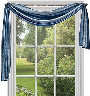 Achim Home Furnishings Ombre Window Curtain Scarf, 50 x 144, Blue
