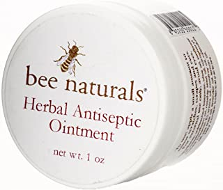 Bee Naturals, Herbal Antiseptic Ointment - Beeswax and Olive Oil Based Ointment - No Antibiotics - For Minor Cuts, Scrapes and Scratches.