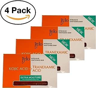 Belo Intensive Whitening Bar (Kojic + Tranexamic Acid) 65g (Pack of 4)
