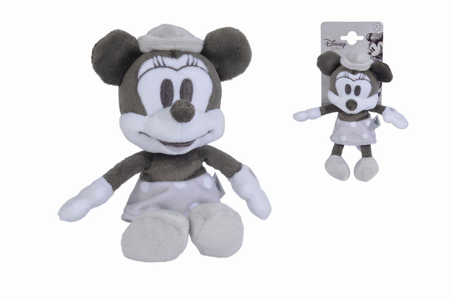 Disney – Peluche de Minnie Retro 15 cm Blanco y Negro, 5876402 ...