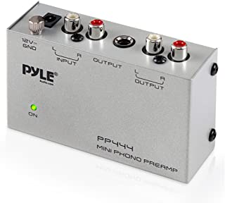 Pyle Phono Turntable Preamp – Mini Electronic Audio Stereo Phonograph Preamplifier..