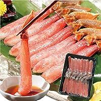 北海道 さっぽろ朝市 生ズワイガニ お刺身 むき身 (ポーション) 500g 20-25本前後 本ずわい蟹 生食可