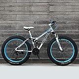 GAYBJ Bicycle 24/26 Inch Mtb Top Fat Bike/Fat Tire Mountain Bike Beach Cruiser Fat Tire Bike Snow Bike Fat Big Tyre Bicycle 21/24/27 speed Fat Bikes,White,26 inch 21 speed