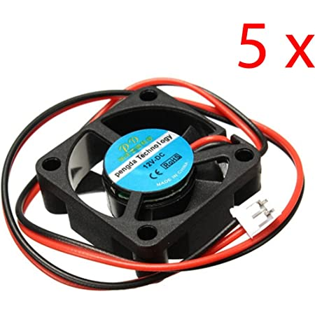 DAOKI 5PCS 12V DC 30mm Cooling Fan for 3D Printer RAMPS Electronics/Extruder - RepRap Prusa