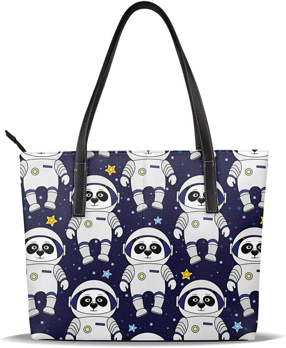 Panda Soldering Astronaut Cute Blue PU Casual Printed 70% OFF Outlet Hand Pattern Leather
