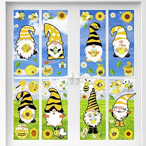 55 Piezas Pegatinas de Ventana de Abeja de Abejorro Calcomanía de Ventana de Gnomo de Abeja para Baby Shower Despedida de Soltera Fiesta de cumpleaños temática de abejas