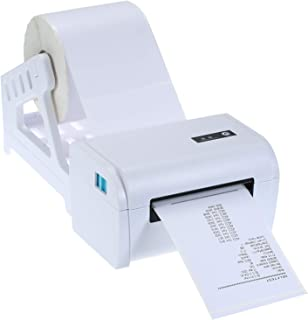 Decdeal 110mm BT Shipping Label Printer with Stand USB Cable High Speed Direct Thermal Printer Receipt Label Maker Sticker...