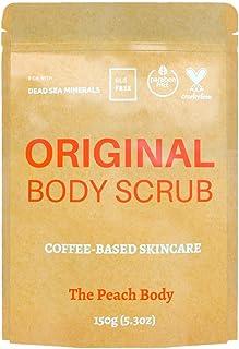 The Peach Body Coffee Body Scrub with Organic Coffee Arabica, Dead Sea Salt, Almond Oil, Shea Butter, Argan Oil, Coconut O...