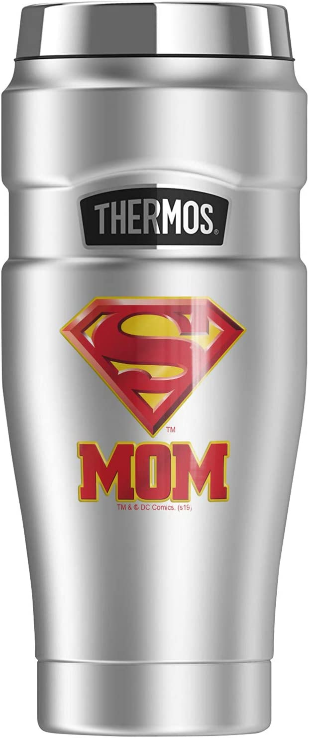 Superman Super Mom Shield Logo 正規品送料無料 Stainless 品質検査済 THERMOS STAINLESS KING