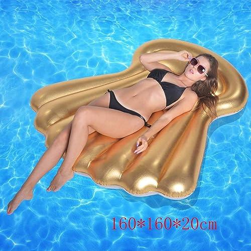 DUBAOBAO Anneau Flottant de rangée Shell de lit de flotteHommest, 160  160  20cm lit Gonflable en Forme de Ventilateur, lit Gonflable, canapé Gonflable, Fauteuil Flottant