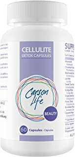 CARSON LIFE Anti Cellulite Detox Pills Helps Prevent and Eliminate Cellulite - Supplement for Fat Reduction and Smoother Skin - 60 Pills – Cellulite Remover - Made in the USA
