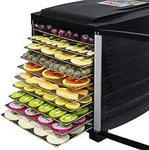 GWFVA 10 Plateaux Déshydrateur en acier inoxydable, déshydrateur automatique, séchoir à fruits et à viande, déshydrateur a...