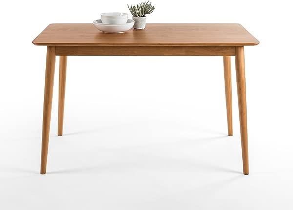 Zinus Jen Mid Century Modern Wood Dining Table Natural