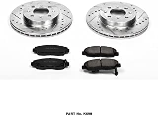Power Stop K690 Front Brake Kit with Drilled/Slotted Brake Rotors and Z23 Evolution Ceramic Brake Pads