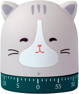 DEYNIYSTY Kitchen Craft Mechanical Wind Up 60 Minutes Timer 360 Degree Rotating Cute Animals Time Timer for Children, Baki...