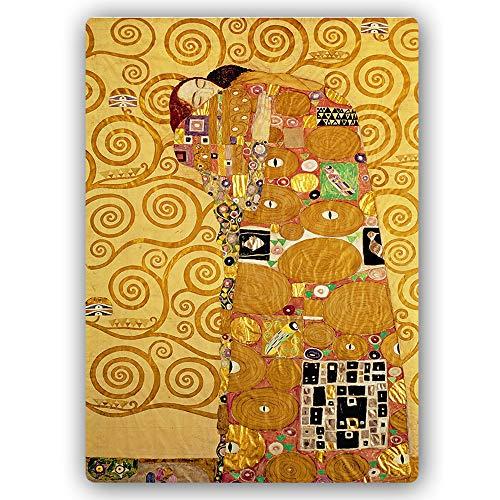 F FEEBY WALL DECOR canvas foto vrouw portret afbeelding kunstdruk gouden jurk goud Metallposter 20x30 cm G