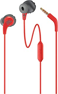 JBL ENDURRUNRED Endurance Run Sweatproof Sport In-Ear Earphone - red (Pack of1)