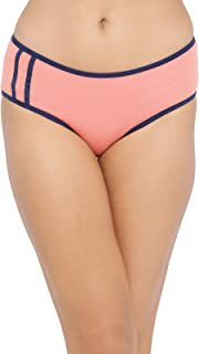 Clovia Women's Mid Waist Hipster Panty in Orange - Cotton
