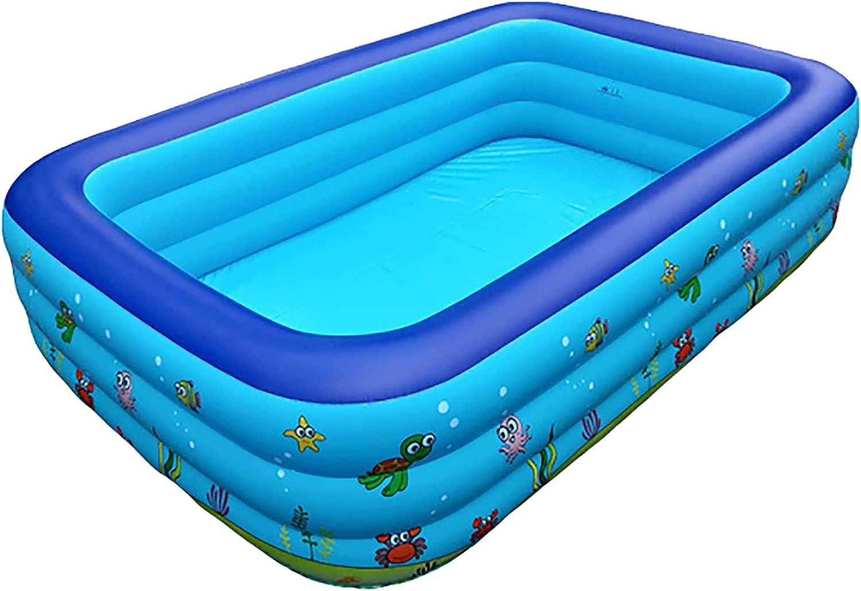 Piscina Inflable Familiar Piscinas Para Niños Al Aire Libre De PVC Engrosado Con Kit Parche Fácil De Instalar Piscina Para Niños Ocean Ball Pool Adecuada Para Adultos Niños Pequeños Jardines ,110cm