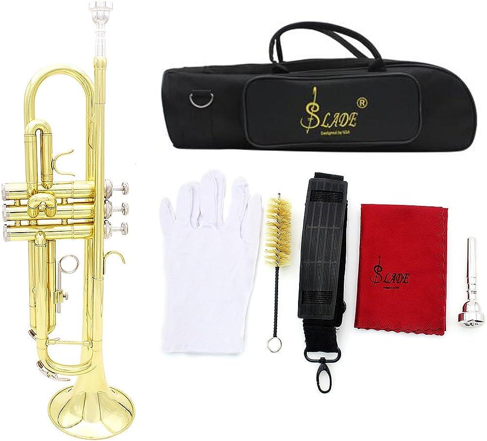 Andoer® tromba bb b flat in ottone 3MQ1432018845347I5