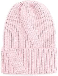 MZHHAOAN Knit Hat Autumn and Winter Cap Warm Headgear Female Thick Soft Warm Chunky Beanie Caps for Women Men