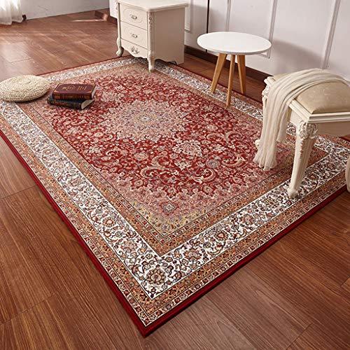 GOPG Retro Persien-Teppich, rutschfeste Gummi-Unterseite, maschinenwaschbar, langlebig, Dekoration für Wohnzimmer, Küche, Schlafzimmer, Flur, a, 200x290cm(79x114inch)