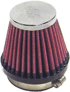 K&N RC-2340 ユニバーサル クランプオン エアフィルター 2-1/8インチ Flg 3インチ B 2インチ T 2-3/4インチ H ブラック