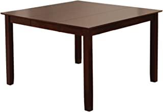 Furniture of America Svelte Counter Height Table with 18-Inch Expandable Leaf, Espresso