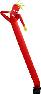 Skyerz Inflatable Advertising Sky Air Puppet Wacky Waving Arm Flailing Tube Man with Blower, 20 Feet, Red