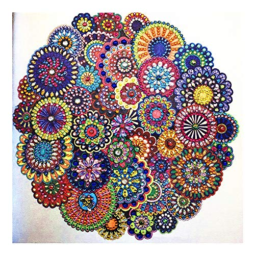 Diamond Painting DIY 5D Special Shape Strass Mandala Blume Teilweise Diamant Kristall Diamant Malerei Set Hibah