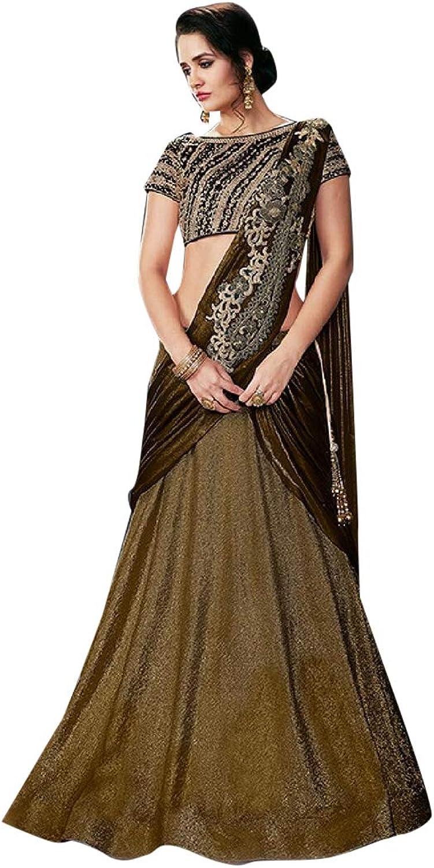 Designer Copper Lehenga Chaniya Choli Indian Ethnic Party Wedding Wear Long Dress 7438