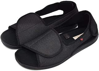 Women's Open Toe Edema Slippers Extra Wide Width Adjustable Sandals Diabetic Shoes for Swollen Feet Elderly Mother Woman.