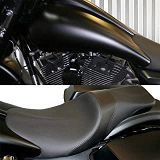 VBROS Indented 2-Up Stretched 6.6 Gallon Custom Gas Fuel Tank W/Full Length Seat For Harley Touring Road King Street Glide FLHX FLTR FLHT 2008 2009 2010 2011 2012 2013 2014 2015 2016 2017 2018