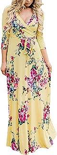 Best white floral wrap maxi dress Reviews