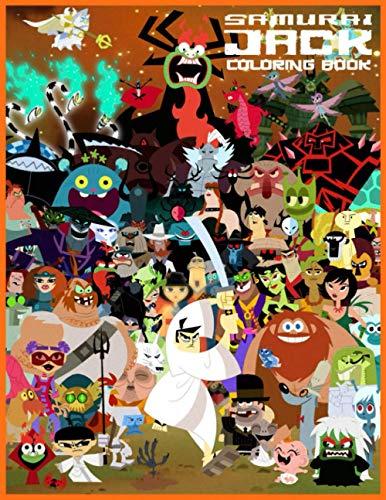 Samurai Jack Coloring Book: Libro para colorear