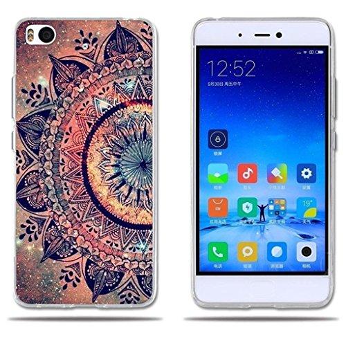 FUBAODA para Xiaomi Mi5S Funda TPU de Gel de Silicona, Lujoso Dibujo de un Mandala,[Antipolvo] [ Carcasa Protectora de Goma para Xiaomi Mi5S