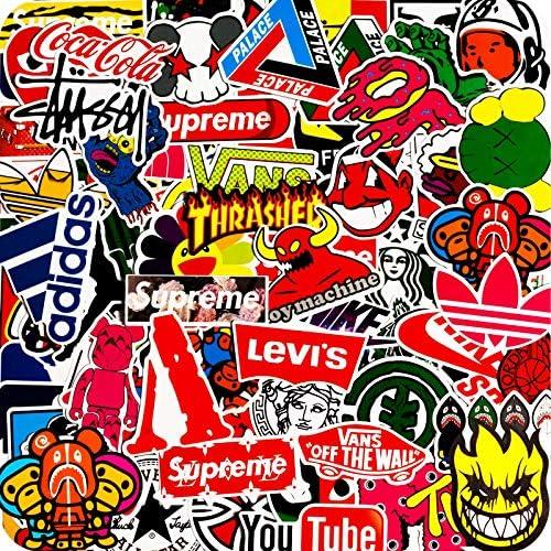 100PCS Fashion Brand Stickers Cool Skateboard Stickers Water Bottle Stickers Vinyl Waterproof product image