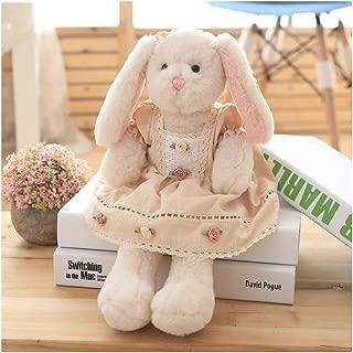 TQZY Plush Floppy Ear Sitting Lovely Creamy Bunny Rabbit Stuffed Animal, Soft Cuddly, Perfect for Girls Boys Newborn,15.7