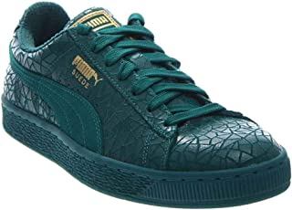 PUMA Mens Suede Crackle Casual Sneakers,