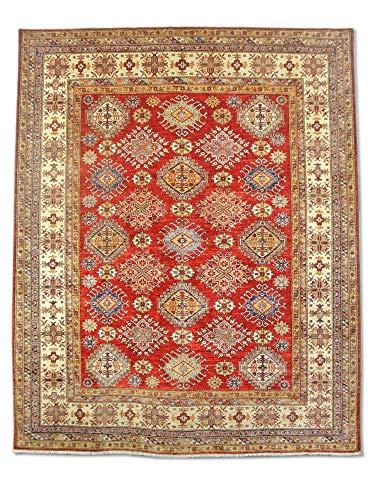 Pak Persian Rugs Handgemachte Kazak Teppich, Burgunderrot/rot, Wolle, Large, 248 X 307 cm