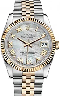 Rolex Datejust 36mm Mother Of Pearl Dial Fluted Watch 116233