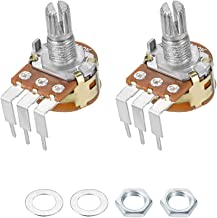 uxcell WH148 Potentiometer with Switch 50K Ohm Variable Resistors Single Turn Rotary Carbon Film Taper 2pcs