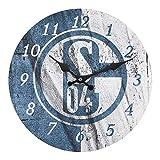 FC Schalke 04 S04 Wanduhr, Uhr Flagge, 12565