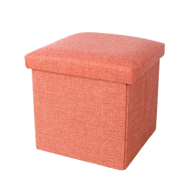 (ティーモイス)Timoise スツール オットマン 収納ボックス 折りたたみ可能 クッション 2WAY 多色組み合わせ (レッド, 25*25*25cm)