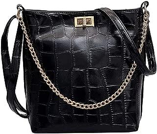 Waymine Women's Shoulder Bag-Stone Pattern Solid Versatile Messenger Bag Square Bucket Bag