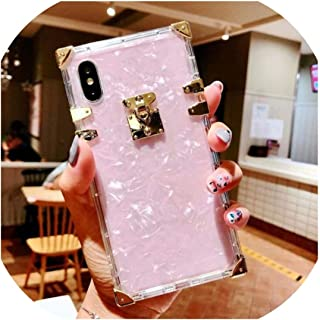 Phone case Luxury Square Clear TPU Case for iPhone 11 Pro Max Soft Silicone Bling Phone Cover for iPhone X XS Max XR for iPhone 6 7 8 Plus,for iPhone 7 Plus,Diamond Case A
