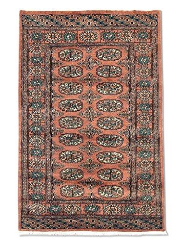Pak Persian Rugs Tapis Noué Main Boukhara, Rose De Cuivre Pâle, Laine, Small, 79 X 119 cm