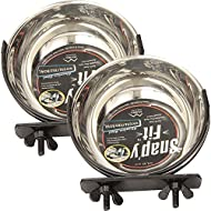 MidWest Homes for Pets 2 Pack of Snap'y Fit Water and Food Bowls, 10 Ounces each, for Dog Crates