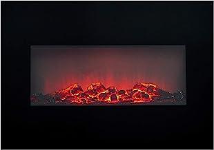 Classic Fire Elektrische kachel effect kachel 1800W, zwart, 13x66x46 cm