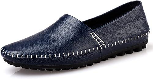 GTYMFH Herrenschuhe Handgefertigt Mode Erbsen Schuhe Freizeitschuhe Niedrig Zu Helfen Atmungsaktiv Leder Fahrschuhe